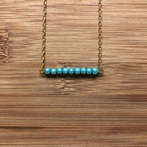 Handmade Faux Pearl Bar Necklace